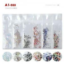 1440pcs 3D köröm art kristály strasszos csillogó gyémánt drágakövek tippek DIY dekoráció