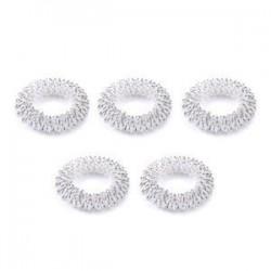 5db ezüst. 10db ujjmasszázs gyűrű akupunktúrás egészségügyi ellátás akupresszúrás masszírozó Hot