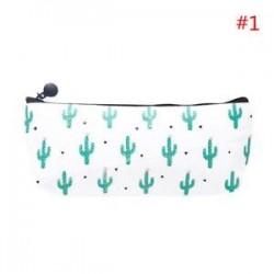 * 1. Vászon kaktusz ceruza toll esetben kozmetikai smink táska tároló tasak pénztárca diák