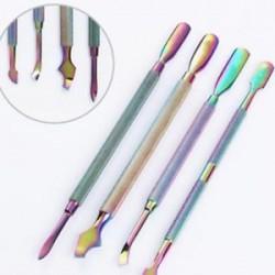 1db rozsdamentes acél körömvágó kutikacsúszó kanál eltávolító manikűr pedikűr eszköz