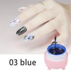 Kék. Körömlakk Spider gél csipke szín UV gél festés gél áztassa le a gél kreatív dekoráció