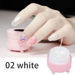 fehér. Pókgél Új körömlakk csipke színe UV-gél lengyel 3D-s festőgél szappanos gél