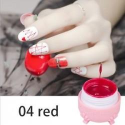 Piros. Pókgél Új körömlakk csipke színe UV-gél lengyel 3D-s festőgél szappanos gél