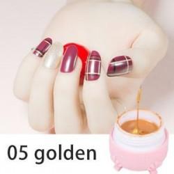Arany. Pókgél Új körömlakk csipke színe UV-gél lengyel 3D-s festőgél szappanos gél