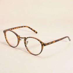 Leopárd. Divat tiszta lencse szemüveg keret retro kerek férfi női unisex majom szemüveg