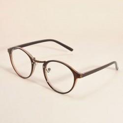 Homokszínű. Divat tiszta lencse szemüveg keret retro kerek férfi női unisex majom szemüveg