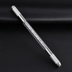 Kettős akril kristály kézi tetováló toll állandó mikroblasztó szemöldök eszközök JP