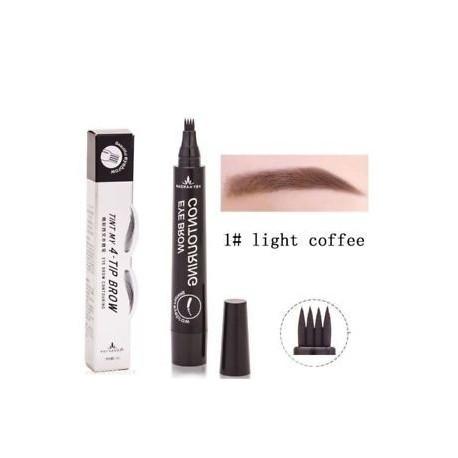 * 1 Könnyű kávé. Microblading szemöldök tetováló toll vízálló villát tipp vázlat smink tinta 4-fej