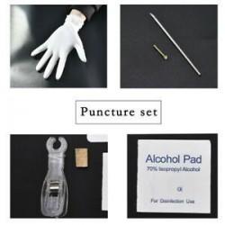 * 1 orrgyűrű készlet. Ezüst Eldobható Piercing Kit steril tűcsomó nyelv testgyűrű szerszámkészlet