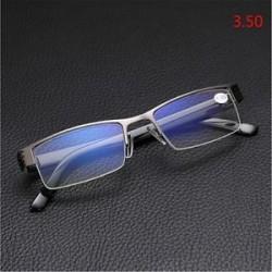 3.50. Kiváló minőségű férfi fél keret stílus kék film sugárzás elleni védelem Olvasóüvegek Új