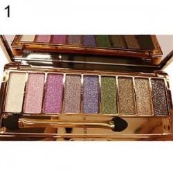 1. 9 szín csillogó szemhéjfesték szemhéjfesték paletta és smink kozmetikai ecset készlet szépség