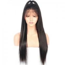 * 1 26 &quot . Forró természetes brazil szűz teljes csipke emberi haj paróka ragasztott teljes első paróka