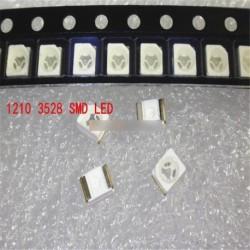 1000db 3528 sárga Ultra fényes könnyű dióda 1210 SMD 20mA vezetékett SMT PLCC-2 LED