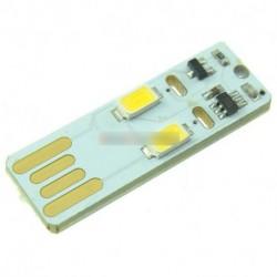 Mini USB érintőőképernyős lézerfény modul meleg fehér izzó fény 2 LED USB lámpa 80 lm 5v érintő