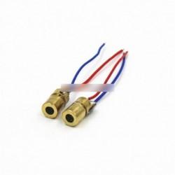 650nm 6 mm-es 3V 5 MW lézer pont dióda modul vörös réz fej Mini lézer pointer