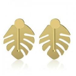 Nők arany ezüst levél alakja geometriai nyilatkozat Drop fülbevaló Dangle ékszerek