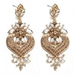 Pezsgő. Nők csillogó kristály strasszos fül Stud Dangle csepp fülbevaló esküvői ékszerek