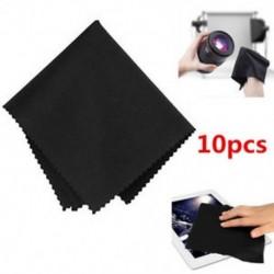 10 x fekete prémium mikroszálas tisztító törlőkendők a kamera lencséihez