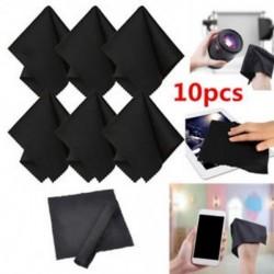 10 x Prémium fekete mikroszálas tisztító törlőkendők a kamera lencséihez