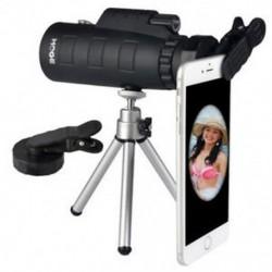 Monokuláris 50X60 nagyítású optikai HD objektív teleszkóp   klip   intelligens telefon állvány