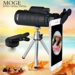 Monokuláris 50X60 zoom optikai HD lencse teleszkóp   állvány   csipesz a mobiltelefonra