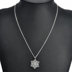 * 4 nyaklánc (45 cm hosszú) - Karácsonyi hópehely csillag strasszos kristály nyaklánc fülbevaló ékszer szett