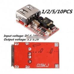 1/2/5db 6-24V-os 12V/24V, 5V 3A autós USB töltő modul Buck lekonveró átalakító