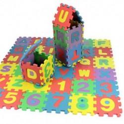 Puzzle gyerek játék mat oktatási játék AZ ábécé és számok lágy hab hab 36db