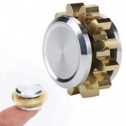 Fidget Spinner ötvözet MINI Gear Copper Figet Spinner Antistress kézi játék ADHD-hoz