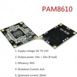 1/2/5db PAM8610 2 * 15W Kétcsatornás sztereó oszyú digiis erősítő  12V