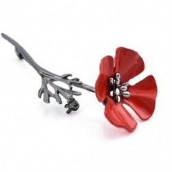 * 4 fekete arany mák (8x2.8cm) - * 4 fekete arany mák (8x2.8cm) Retro női zománc piros mák virág bross Pin Broach
