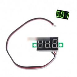 """0,36"""" 0-30V DC LED Panel feszültség mérő kijelző 3-digiis voltmérő 3 zöld vezeték"""