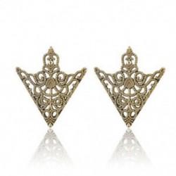 Vintage bronz - Vintage bronz 2Pc Spike Stud háromszög blúz ingek galléros nyakcsúcs nyak tipp bross Pin lánc Punk