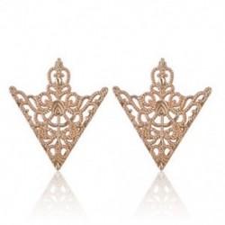 Arany - Arany 2Pc Spike Stud háromszög blúz ingek galléros nyakcsúcs nyak tipp bross Pin lánc Punk