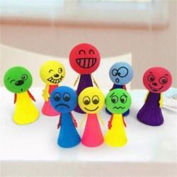 2Pcs / set Jump Doll Bounce Elf Fly Kreatív gyerekek Gyerekek oktatási játékok