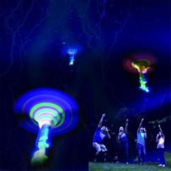 LED világít villogó fény ragyogás repülő szitakötő fél játékok gyerekek ajándék