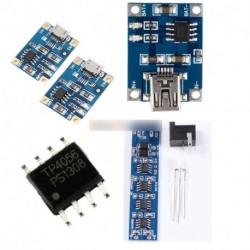TP4056 Mikro/Mini USB töltő modul 5V 1A 18650 lítium akkumulátor töltő ellátás