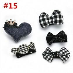 * 15 5Pcs / Set - * 15 5Pcs / Set 1 készlet gyerekek baba lány haj klipek készlet Bowknot virág szív korona fejfedők