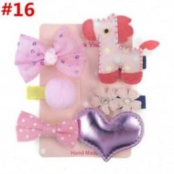 * 16 6Pcs / Set - * 16 6Pcs / Set 1 készlet gyerekek baba lány haj klipek készlet Bowknot virág szív korona fejfedők