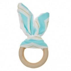 Kék arany fehér - Kék arany fehér Baba fogzási gyűrű kézzel készített természetes fából készült chewie teether