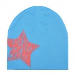 Kék - Kék Baby Boy Girl puha pamut téli meleg sapka gyerek kisgyermek csecsemő Star Beanie kalap