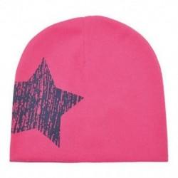 Rózsaszín - Rózsaszín Baby Boy Girl puha pamut téli meleg sapka gyerek kisgyermek csecsemő Star Beanie kalap