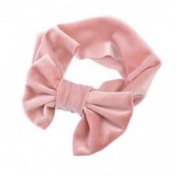 Rózsaszín - Rózsaszín Puha baba / lányok gyerekek kisgyermek íj hajpánt fejpánt Turban nagy csomó fej-Wrap JP