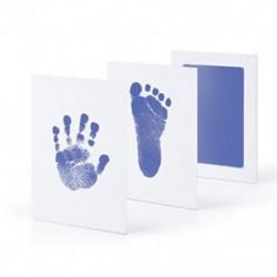 Világoskék - Világoskék Újszülött Handprint Footprint Impresszum Tiszta Touch Ink Pad Photo Frame Kit Hot