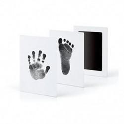 Fekete - Fekete Újszülött Handprint Lábnyom Impresszum Tiszta Touch Ink Pad Photo Frame Kit JP