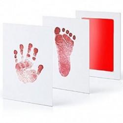 Piros - Piros Újszülött Handprint Lábnyom Impresszum Tiszta Touch Ink Pad Photo Frame Kit JP