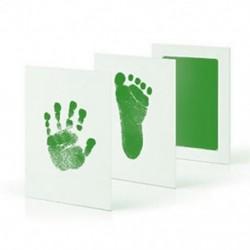 Zöld - Zöld Baby Newborn Handprint lábnyom Impresszum Clean Touch tintapatron képkeret ajándék