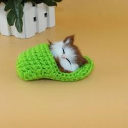 Zöld - Zöld Hot Lifelike Kid Toys aranyos plüss macska lágy baba Lifelike szimulációs hang játékok