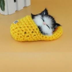 Sárga - Sárga Hot Lifelike Kid Toys aranyos plüss macska lágy baba Lifelike szimulációs hang játékok