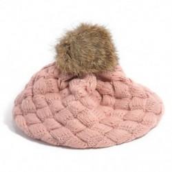 Rózsaszín - Rózsaszín Aranyos baba gyerekek lányok kisgyermek téli meleg kötött horgolt beret sapka sapka kalap